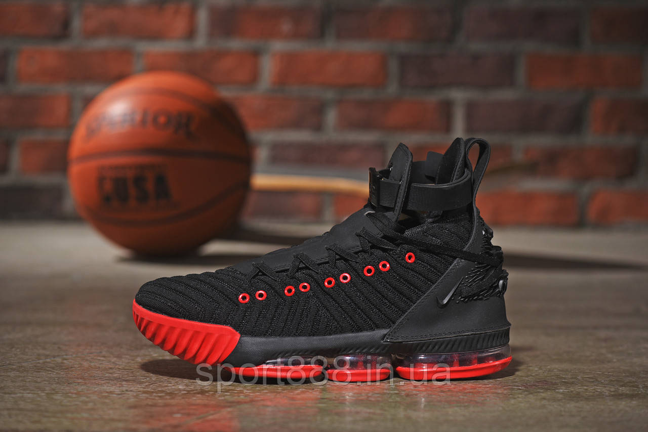 29e97f7f Nike LeBron 16 HFR красно-черные мужские кроссовки - sport888 в Николаеве