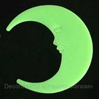 Стикер месяц, светящиеся в темноте. САЛАТОВЫЙ , фото 2