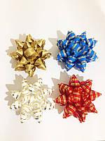 Банты 11,5 см 8-ми конечные на клеевой ленте (банты для упаковки подарков) Опт и розница