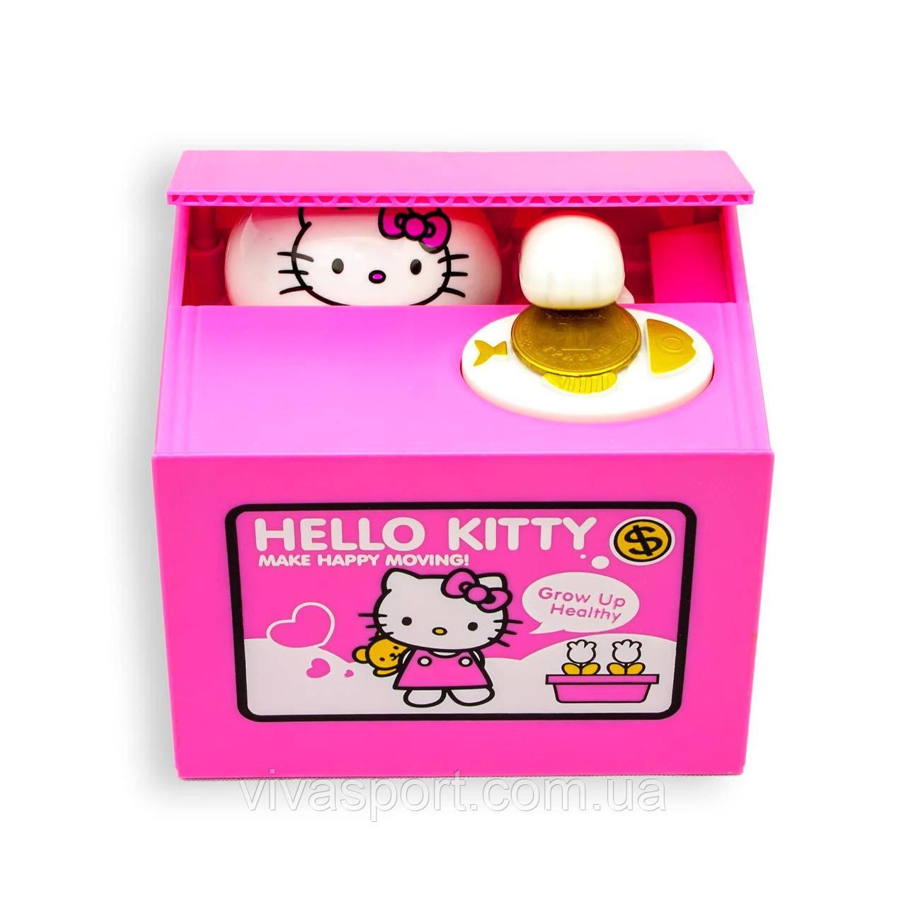 Копилка Hello Kitty, китти воришка