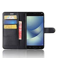 Чехол-книжка Litchie Wallet для Asus Zenfone 4 Max ZC554KL Черный