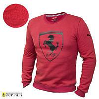 Мужской свитер кофта свитшот Puma Ferrari Red батник Пума Феррари, фото 1