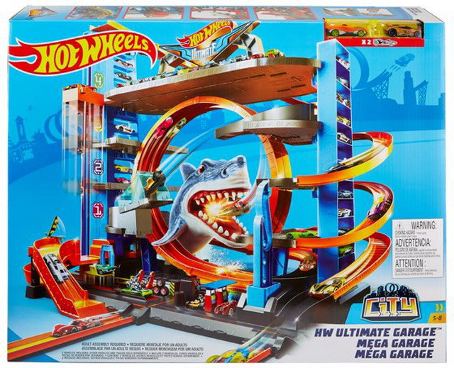 Трек Легендарный Гараж Хот Вилс Атака Акулы Hot Wheels Ultimate Garage