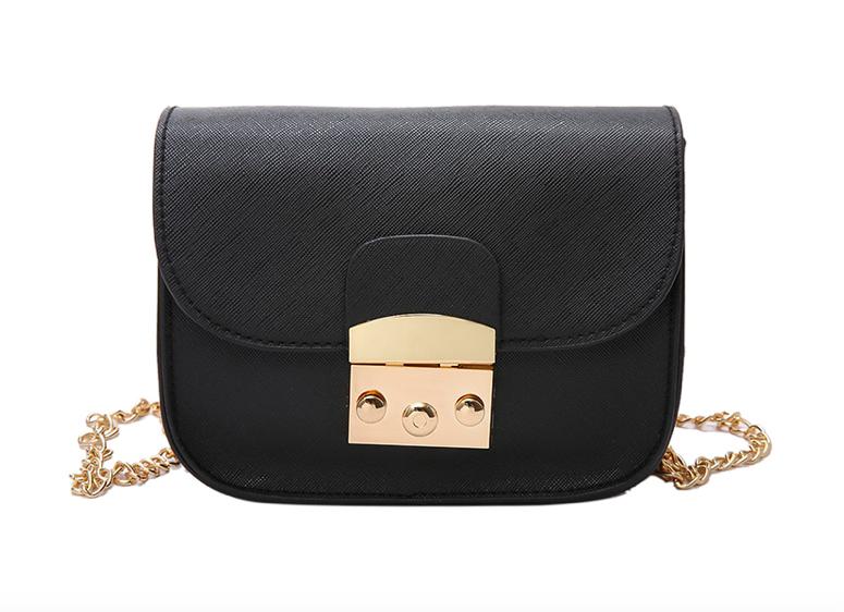 b595b057e94d Женский клатч сумка через плечо в стиле Furla Черный - Интернет магазин  GoFashion в Белой Церкви