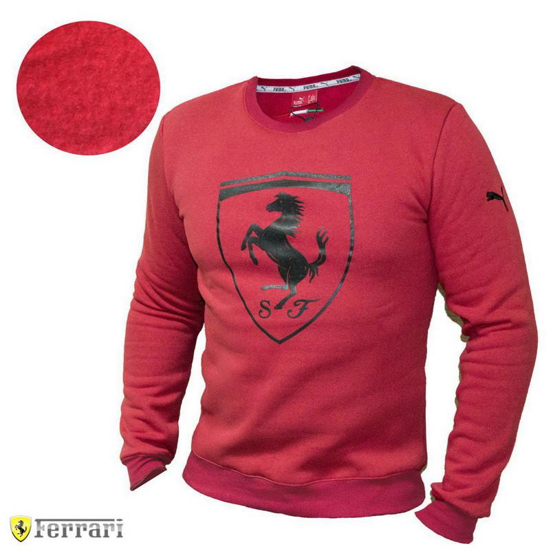 Мужской свитер кофта свитшот Puma Ferrari Red батник Пума Феррари
