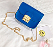 Женский клатч сумка через плечо в стиле Furla Синий, фото 4