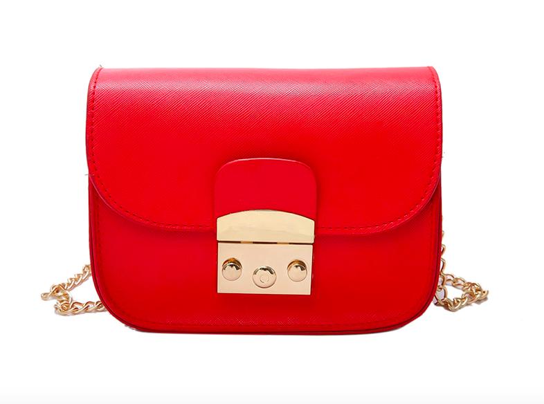 Женский клатч сумка через плечо в стиле Furla Красный