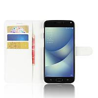 Чехол-книжка Litchie Wallet для Asus Zenfone 4 Max ZC554KL Белый