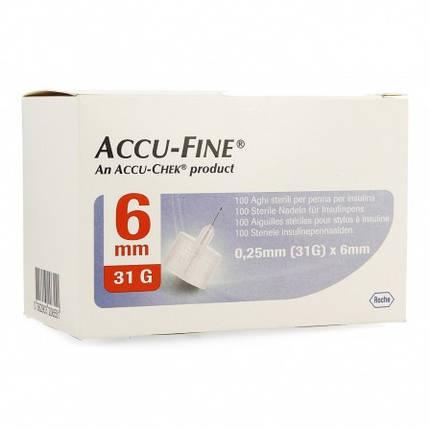 Иглы инсулиновые Accu - Fine 6mm, 31G, фото 2