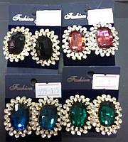 Серьги 012672 камни в разных цветах