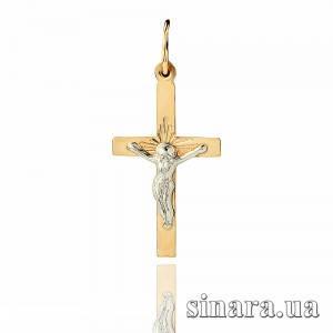 Золотой католический крестик 19400