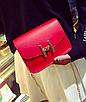 """Женская сумка клатч на цепочке в стиле """"Гермес"""" Красный, фото 4"""