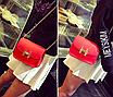 """Женская сумка клатч на цепочке в стиле """"Гермес"""" Красный, фото 2"""