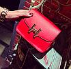 """Женская сумка клатч на цепочке в стиле """"Гермес"""" Красный, фото 3"""