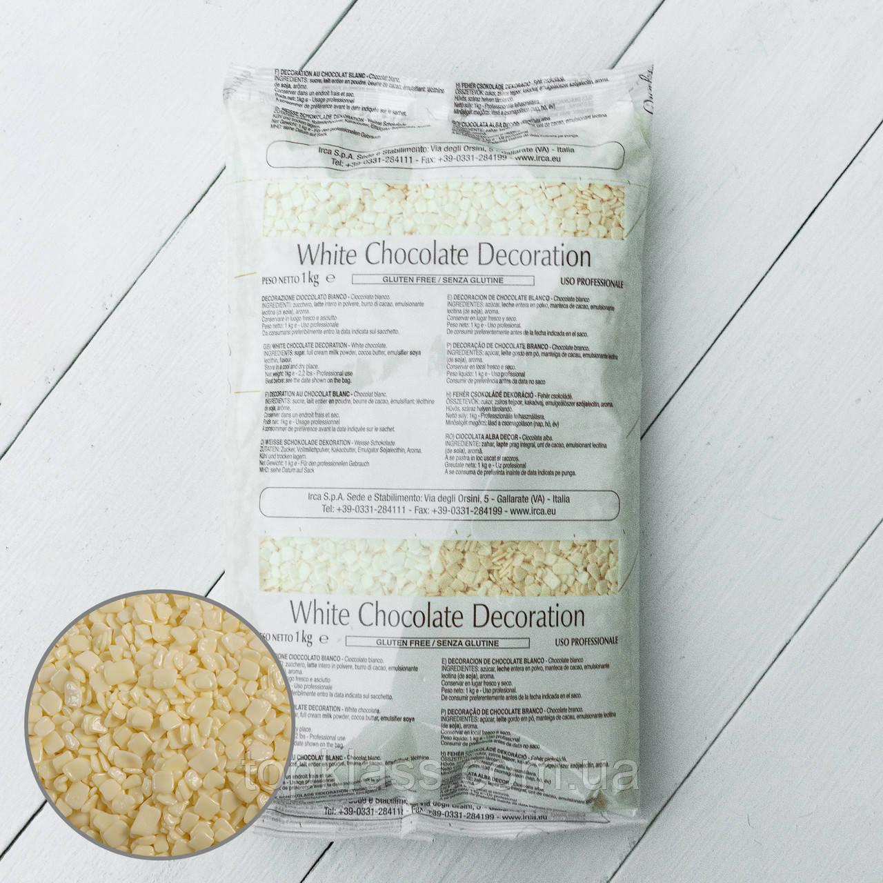 Осколки з білого шоколаду SCAGLIETTA WHITE, IRCA, Італія 1кг