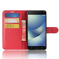 Чехол-книжка Litchie Wallet для Asus Zenfone 4 ZE554KL Красный