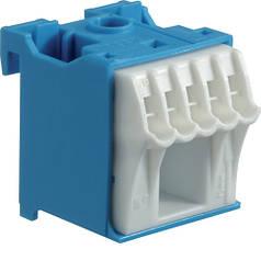 Блок N-клем, кількість одиниць поділок - 1; ширина - 30мм. 1х16 мм + 5х4 мм
