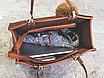 Сумка женская кожаная классическая Elli Бордовый, фото 9
