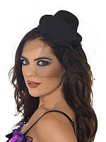 Шляпа Мини Цилиндр черный