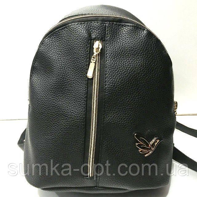 Міські рюкзаки кожзам (чорний)20*25см