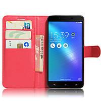 Чехол-книжка Litchie Wallet для Asus Zenfone 3 Max ZC553KL Красный