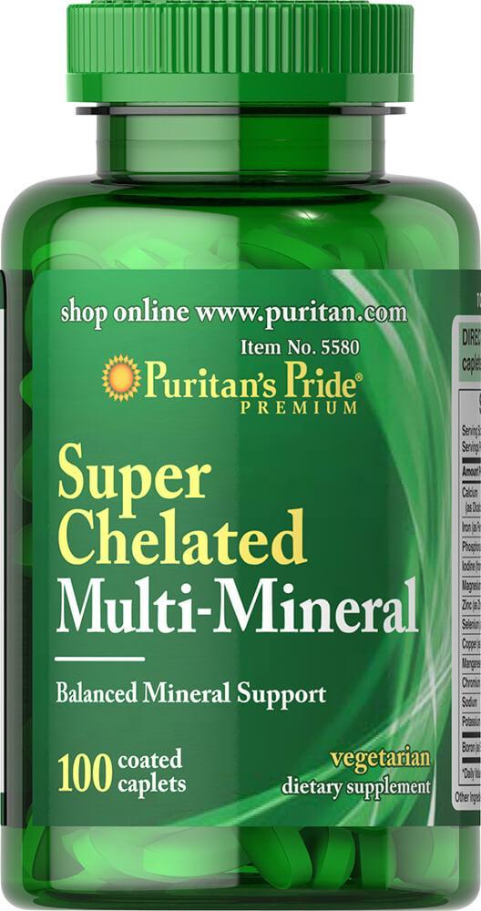 Puritan's pride Super Chelated Multi Mineral, Хелатный минеральный комплекс (100 таб.)