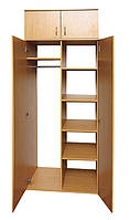 Шкаф для одежды и книг 2-дверный с антресолью (0636+0654)