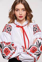 Вышиванка 2KOLYORY Квіти зорі XL Белый 1005-XL, КОД: 266143