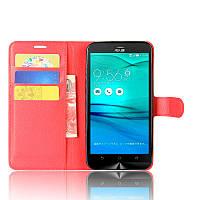 Чехол-книжка Litchie Wallet для Asus Zenfone Go ZB552KL Красный
