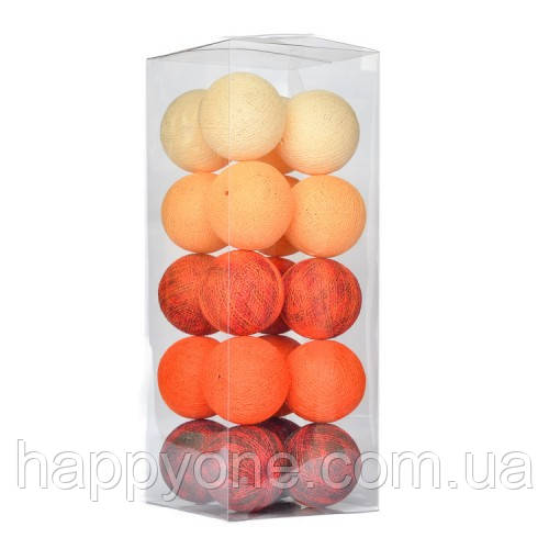"Тайская LED-гирлянда ""Funny Orange"" (10 шариков) на батарейках"