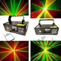 Лазерный проектор новогодний с пультом ДУ. DM-RGY250. Дискотечный лазер