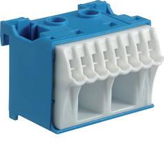 Блок N-клем, кількість одиниць поділок - 1,5; ширина - 45 мм. 2х16 мм + 8х4 мм