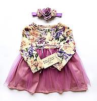 Дизайнерское детское платье Andriana Kids с фатином