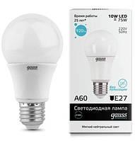 Светодиодная лампа GAUSS Elementary A60 10Вт 4100K E27 180-240В