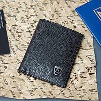 Ультракомпактный черный кожаный мужской кошелек Jinbaolai