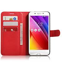 Чехол-книжка Litchie Wallet для Asus Zenfone Max ZC550KL Красный