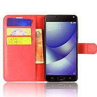 Чехол-книжка Litchie Wallet для Asus Zenfone 4 Max (ZC520KL) Красный
