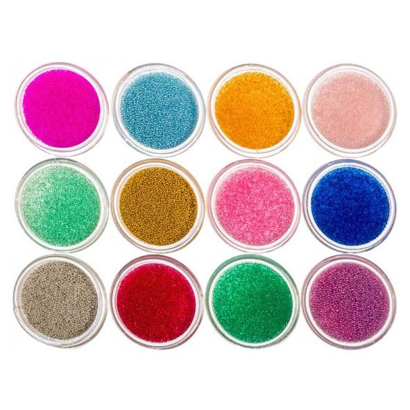 Набор Акриловых Цветных Бульонок Cuttie для Ногтей, 12 баночек