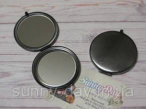 """Заготовка для оформления вышивки """"Зеркало"""", темное серебро/матовое"""