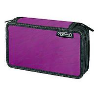 Пенал с наполнением 23 предмета Herlitz Double Wild Print Purple пурпурный (10432078P)