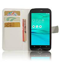 Чехол-книжка Litchie Wallet для Asus Zenfone Go ZB500KL Белый