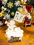 Новогодняя ёлка 2019 игрушка-сувенир, Новогодний декор Happy New Year и Merry Christmas, фото 3