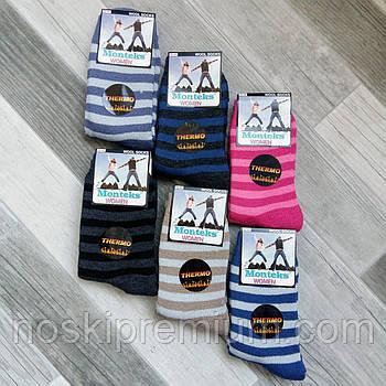 Термошкарпетки жіночі вовняні махрові Monteks, Туреччина, розмір 36-40, асорті, 02500