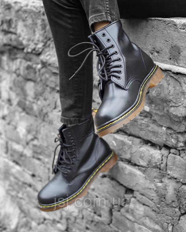 Женские зимние ботинки Dr. Martens 1460 с натуральной кожей и мехом ... cea81ffef02b5