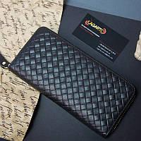 Кожаный мужской клатч портмоне Fralu черный