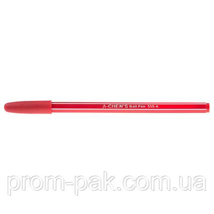 Ручки шариковые  Aihao 555-А красного цвета, фото 2