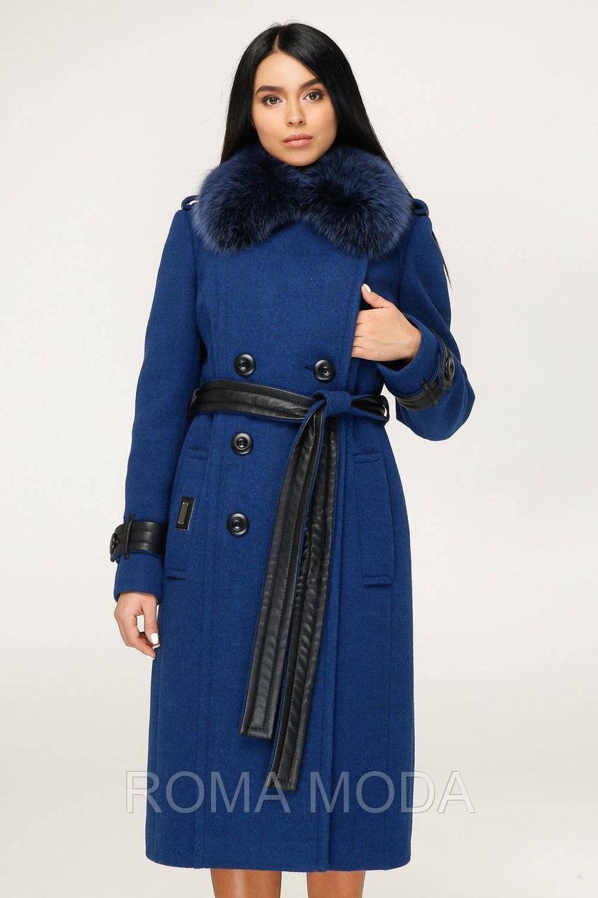 Пальто зимнее женское с мехом в 6ти цветах П-1157 н/м