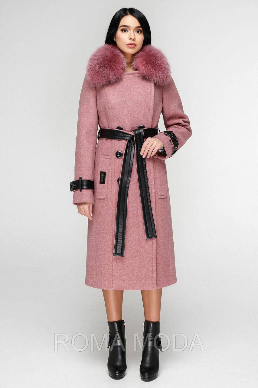 Пальто зимнее женское с мехом в 6ти цветах П-1157/1 н/м