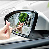 Авто пленка антидождь на зеркала .95х 95mm гидрофобная антиблик водоотталкивающая, фото 10