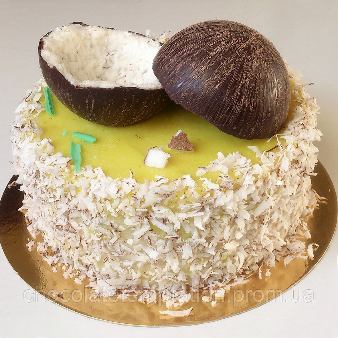 Постный кокосово-лимонный торт